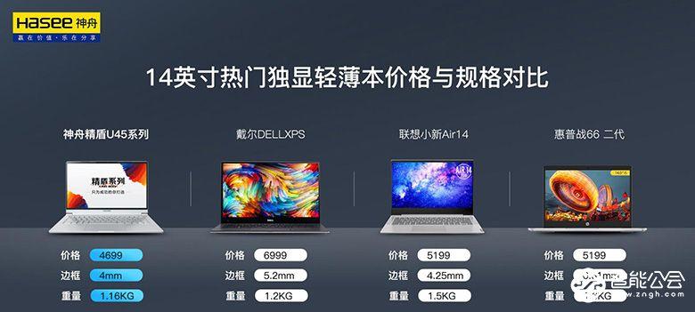 """""""芯""""动精盾 神舟U45系列轻薄本全面升级十代处理器 智能公会"""